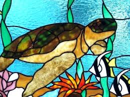 turtle stained glass sea stain free patterns creek studio