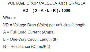 Ac Voltage Drop Chart Permissible Voltage Drop Energypedia Info