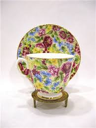 Fine China Display Stands Bethany Staffordshire Fine Bone China Chintz Cup Saucer With 81