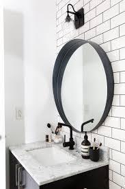 Innovative Black Bathroom Mirror Best 25 Black Round Mirror Ideas