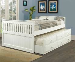 White full size trundle captains beds kids bedroom furniture Orlando ...