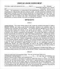 Commercial Vehicle Lease Agreement Template , 11+ Simple Commercial ...