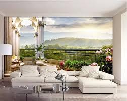 living room 3d wallpaper outdoor view designs