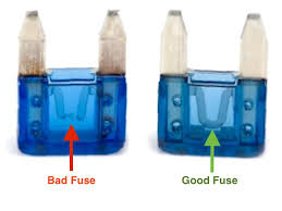 ford mustang v6 and ford mustang gt 2005 2014 fuse box diagram burned out left and good fuses right