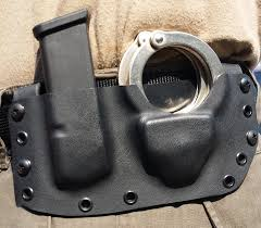 Handcuff And Magazine Holder Custom Kydex Magazine And Handcuff Pouch Wisconsin Precision 45