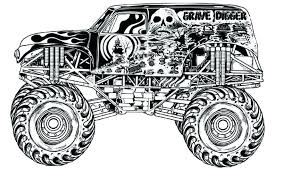 Grave Digger Coloring Pages 20 New Gwall Us