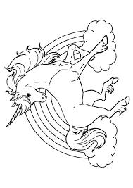 Eenhoorn Regenboog Kleurplaat Geprint Kinderen Unicorn