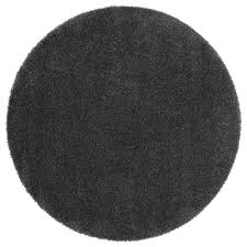 photo 3 of 5 Ådum rug high pile dark gray diameter 4 3 circular