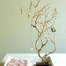 branch jewelry holder organizer wall mounted tree diy manzanita stand branch jewelry holder wire tree