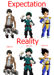 Height Chart My Hero Academia Dekus Height Expectation Vs Reality Know Your Meme
