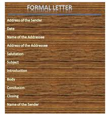 How To Format A Formal Letter Types Of Formal Letters With Samples Formal Letter Format