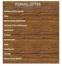 Formal Letter Latest Format Types Of Formal Letters With Samples Formal Letter Format