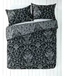 black and white toile duvet cover black and grey damask bedding set at black and