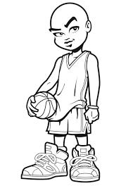 Coloriage Basket Ball Joueur Sur Hugolescargot Com