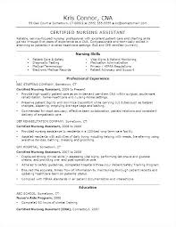 Objectives For Cna Resume Best of Nurse Aide Resume Nursing Assistant Certified Objective Example