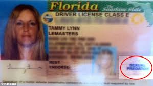It Mail After Online On Driver's Florida Labelled Was Sues Woman They A Say Authorities Daily 'human Predator Error' Sexual License But