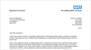 care of letter nhs identity guidelines primary care practice patient letter