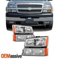 Lights For 2006 Chevy Silverado Fit 2003 2006 Chevy Silverado 2003 06 Avalanche Headlights Bumper Signal Lights