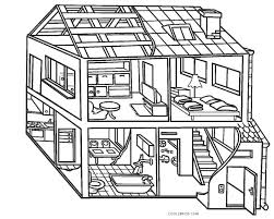 House and building color pages are designed specially for kids to aware how the buildings look like in real. Free Printable House Coloring Pages For Kids