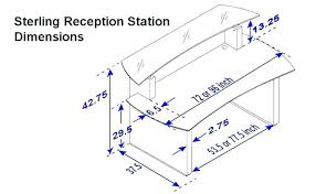 standard sofa dimensions in inches beautiful reception desk dimensions counter height reception desk what is desk
