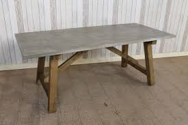 zinc top dining table restoration hardware b60 zinc