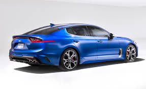 2018 kia blue. brilliant 2018 2018 kia stinger a reardrive shot across the germansu0027 bow throughout kia blue n