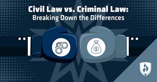 Criminal Law Elements Chart Civil Law Vs Criminal Law Breaking Down The Differences