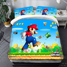 super mario bros duvet cover set bed