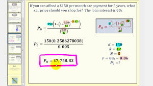 loan formulas the installment loan formula youtube