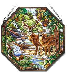 stained glass deer deer creek octagon stained glass free stained glass deer patterns