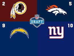 2020 Nfl Draft Order Redskins No 2 Giants Slip Into Top