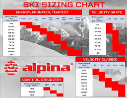 Rossignol Xc Ski Size Chart Size Charts For Alpina Cross Country Skis