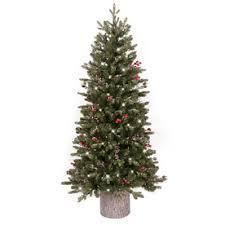 Flocked Christmas TreesSlim Flocked Christmas Trees Artificial