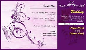 10 Wedding Card Template Word Excel Pdf Templates