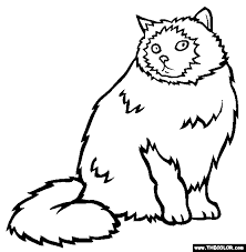Coloring pages for cat (animals) ➜ tons of free drawings to color. Cats Online Coloring Pages