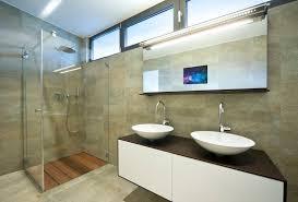 Decoration Fascinating Decorating Ideas Using Rectangular Brown - Tv for bathrooms