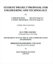 Engineering Project Proposal Template – Bbfinancials.info