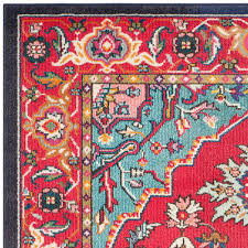 red and turquoise rug cievi home