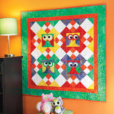 It's a Hootie: Bright Colorful Owl Wall Quilt Pattern - The ... & It's a Hootie: Bright Colorful Owl Wall Quilt Pattern Adamdwight.com