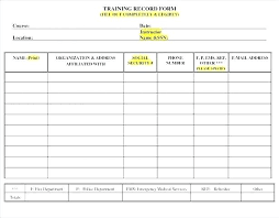 Employee Training Record Template Excel Awesome Employee