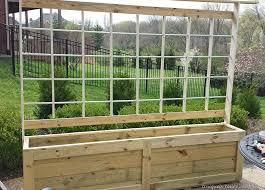 735 next trellis planter garden screen