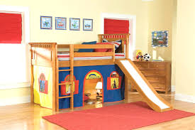 loft with slide. loft bunk bed with slide and tent for kids decofurnish fancy lofted