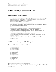 Assistant Manager Job Description For Resume Restaurant assistant manager job description for resume best of 55