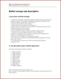 Restaurant Assistant Manager Job Description For Resume Best Of