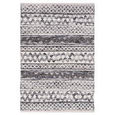 omen ivory grey hand woven wool rug