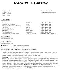 Acting Resume No Experience Template Picture Gallery Website