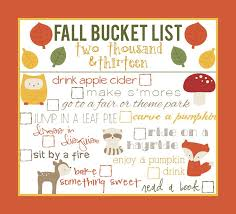 fall bucket list 2016