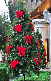 christmas trees decorated with red ribbon. Simple Ribbon Christmas Tree Decorations Red Bows With Trees Decorated Ribbon R