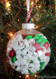 the office christmas ornaments. I Just Filled A Clear Plastic Ornament With Half Popcorn And Red Green Christmas M\u0026Ms. Little Ribbon At The Office Ornaments C