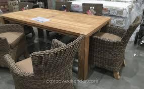 teak patio dining table unique outdoor patio dining sets costco outdoor designs